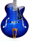 Blue Hybrid Archtop Front