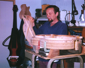 John Knutson in his shop